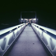 Skyway (Olly Denton) Tags: brussels sky 6 apple architecture night lights evening mac belgium path eu bruxelles walkway ios iphone gangway bxl vsco iphone6 vscocam