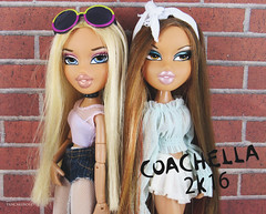 #bratzatcoachella (PancakeBoss) Tags: hot brick festival wall hair spring doll break magic think tan 2006 it queens looks coachella loves yasmin mga 2007 bratz divas cloe 2016 goddeses