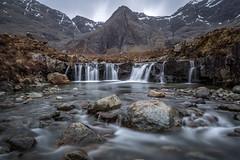 "Fairy Pools and Sgurr an Fheadain (steiner2009 ""AKA Dr Dust "") Tags: snow mountains water landscape scotland rocks isleofskye fairypools sgurranfheadain waterfallheather"