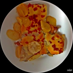 bacalao con patatas gratinadas y jamon (rabapo) Tags: patatas comer jamon bacalao gratinadas rabapo