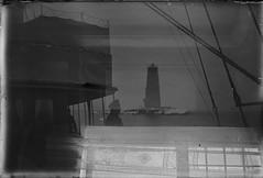 Bogskär; kaksoisvalottunut negatiivi (KansallisarkistoKA) Tags: lighthouse 1922 beacon majakka bogskär