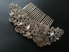 Wedding hair comb, Bridal hair comb, Barrette clip, Vintage brooch, Silver vintage style hair accessory (weddingvalle) Tags: wedding party woman flower beautiful fashion rose hair pretty crystals handmade style jewelry sparkle bridesmaids prom gift statement brides accessories weddings etsy bridal comb rhinestones headpiece weddingvalle