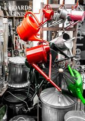 97/366 Bins & Cans - 366 Project 2 - 2016 (dorsetpeach) Tags: red england green metal shop can bin dorset 365 wateringcan dorchester dustbin ironmonger 2016 366 aphotoadayforayear 366project dodgsons second365project