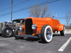 Blackjax Bar 4/10/2016 Orange Roadster (Speeder1) Tags: show street cruise two orange hot classic ford chevrolet car bar rat pennsylvania muscle pa lane tavern rod 55 goons aces willys gasket blacktop roadster eights birdsboro blackjax