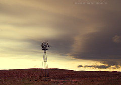 (Chains of Pace- Road Trip to LA) Tags: sunset oklahoma windmill clouds landscape country western windmillwednesday