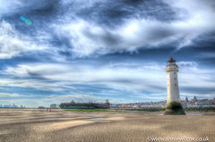 Tide's out at Fort Perch Rock (anniew69) Tags: uk greatbritain sea england lighthouse building beach nature ecology liverpool blackwhite seaside nikon scenery europe britishisles unitedkingdom britain british environmentalism hdr highdynamicrange apr hdri wallasey ecosystem wirral newbrighton edifice edifices 2016 rivermersey photomatix portofliverpool newbrightonlighthouse liverpoolbay perchrock perchrocklighthouse photographytechnique d7000 anniewilcox wwwanniewilcoxcouk anniew69