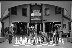 Thought and observation (Pan) Tags: street game max observation thought pattern think chess symetry euwe checkmate