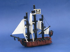 Mystery Men - The Cow Tipper (Robert4168/Garmadon) Tags: men mystery cowboys ship lego pirates sails micro rigging 2016 mocathalon