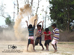 Dusty Play (Suman Kalyan Biswas) Tags: life friends portrait people india game nature smile childhood playground fun nadia play mud outdoor awesome funtime portraiture dust brotherhood enjoyment masti westbengal childhoodgames  emotionalmoment  bethuadahari   germfighter   kshidirpur playingwithdust nakashipara portraitureinmotion    rarespectacle