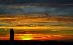 Leasowe Lighthouse (Dancin K & H) Tags: sunset sky lighthouse abstract colours wirral merseyside leasowe leasowelighthouse
