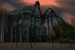 Ottawa Ontario ~ Canada ~ National Gallery of Canada ~ Maman Sculpture ~ Spider (Onasill ~ Bill Badzo) Tags: travel sunset england sky sculpture ontario canada macro building london art glass sport architecture bronze night clouds canon walking rebel spider hall site artist gallery tour outdoor ottawa landmark louise national sunburst rays bourgeois visitors maman six casting turbine attraction sl1 on 18250mm onasill sirgma