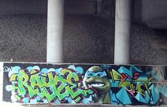 RAYZE - Leonardo (jmaxtours) Tags: streetart toronto graffiti mask turtle leonardo teenagemutantninjaturtle bluemask torontostreetart heroinahalfshell streetarttoronto rayze