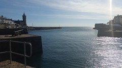 Porthleven (andy.j1) Tags: blue sea wall cornwall skies harbour porthleven