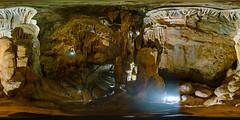 Bridal Cave (Birthday Tour!) (severalsnakes) Tags: vacation lake tour interior 360 tourist formation missouri mineral cave stalagmite lakeoftheozarks ricoh onyx thundermountain stalactite ozark spherical degrees theta camdenton thetas bridalcave theta360 saraspaedy