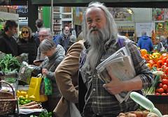 The Paper Boy!!!! (MWBee) Tags: london beard nikon market papers boroughmarket fruitveg d5000 mwbee