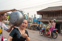 Water Festival in central Laos (Jeff Williams 03) Tags: water festival fun village motorbike mai laos lao pii pdr