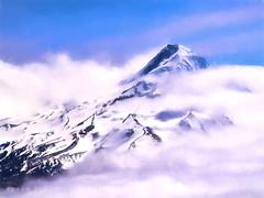 Hood makes an impression (MisterSqueeze - (tyson robichaud)) Tags: landscape photography aerial digitalpainting mthood pacificnorthwest cloudporn olympusmzuiko75mmf18 pnwonderland lumixdmcgx8