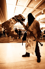 the axeman (JoeBenjamin) Tags: man game umbrella giant costume video orlando scary florida cosplay zombie 5 character sony large cook evil posed posing 7 center corporation butcher killer e convention horror terror axe videogame fl mutant re 1855mm bloody megacon alpha biohazard murderer smock terrifying afterlife suspense axeman mutated retribution oss the hooded cleaver resident nex executioner f3556 majini sel1855 nex7