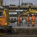 Cardiff Central: track renewal work on the Platform 2 line
