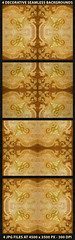 4 Ornate Decorative Seamlesss Backgrounds (Daniel Ferreira-Leites) Tags: old brown art floral beauty yellow wall digital print tile carpet design warm pattern lily artistic unique decorative background decoration pale ornament fancy swirls richness elegant ornate baroque luxury seamless lis raster wealth decorated filigree able refined