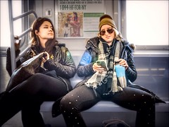 20160107 DSC03677 200 Edit 012 Sm (NYC Subway Rider) Tags: woman candid wideangle passengers transportation mta commuter customer masstransit hdr 7train elevatedtrain nycta streetshooter fauxbokeh sel16f28 flushingbound sonya6000 manspread vclecu2ultrawideconverter nycsubwayrider