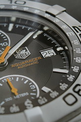 Tag Heuer Aquaracer Automatic - Close Up (Paul Beech) Tags: face smart closeup hands quality tag watch dial wishlist depthoffield timepiece numbers handheld shallow date expensive classy tagheuer aquaracer ef24105mmf4lisusm canoneos400d paulbeech