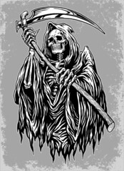 Hand Inked Grim Reaper Illustration (ronybestfr3ind) Tags: people abstract black halloween face cemetery grave hat sign monster tattoo illustration danger dark dead skeleton death skull design mask symbol grim reaper killing body robe object flag fear unitedstatesofamerica ghost tombstone gothic decoration evil icon spooky adventure human anatomy depression horror shock bone shape immortal vector mortal scythe cruel