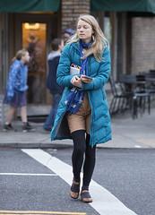 (eyepiphany) Tags: fashion winterfashion portlandfashion beautyonthestreet brownleatherperforatedflats cloudbluequiltedpuffercoat stampedleafearrings crumbcakebrownshortsandblackleggings