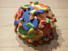3D Printed Escher's Lizard Bowl (Was supposed to be a Sphere...) (fdecomite) Tags: 3d geometry slide lizard together printing math escher