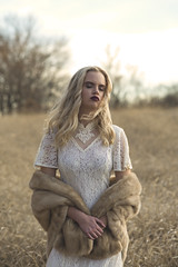 Abby (Stacey Shay) Tags: winter woman fall classic nature girl beautiful beauty field fashion vintage fur outdoors model natural wind lace retro mink blonde editorial elegant classy fashionmodel vintagefur staceythompsonphotography