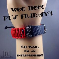 Woo Hoo! It's Friday! Oh wait I'm an entrepreneur!! #friday #weekendmotivation #norestforthewicked #carbonfiber #skullbracelet #entrepreneur (JenniferRay.com) Tags: ray jennifer jewelry carbon custom fiber exclusive paracord jrj instagram