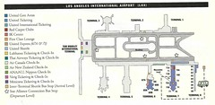 United LAX diagram, April 2001 (airbus777) Tags: 2001 airport map terminal diagram lax ua unitedairlines losangelesinternational