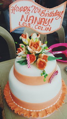 70th birthday of our beloved aunt. #cake #fondant #birthday #celebration #photographs (Julieyow) Tags: birthday cake celebration photographs fondant