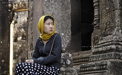 Silent cry of an eternal wait (aH!L) Tags: cambodia angkorwat