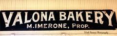 Valona bakery sign (Walt Barnes) Tags: ca history sign museum canon vintage advertising eos calif sp bakery crockett topaz southernpacific traindepot vintagesign valona 60d canoneos60d eos60d topazclarity crocketthistoricalmuseum topazinfocus wdbones99 valonabakery