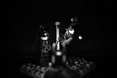 Gotham Strip Club (Silverio Photography) Tags: blackandwhite photoshop canon toy dc lego harley elements batman quinn vignetting catwoman hdr topaz villians adjust 60d