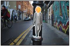 FACE THE STRANGE on HANBURY STREET (StockCarPete) Tags: streetart pasteup stickers sticka londonstreetart facethestrange