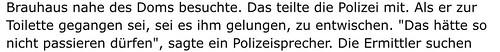 """Kölner Polizei und die Sprache: Verurteilter entwischt, """"das hätte so (sic!) nicht passieren dürfen"""" • <a style=""""font-size:0.8em;"""" href=""""http://www.flickr.com/photos/77921292@N07/24424606831/"""" target=""""_blank"""">View on Flickr</a>"""