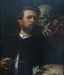Böcklin, Self-Portrait with Death Playing the Fiddle, 1872