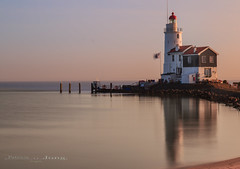 lighthouse (patriciajong) Tags: lighthouse reflection marken