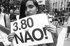 Ato contra o aumento da tarifa do transporte (SP) - R$ 3,80 NO! (Paulo Octavio) Tags: people bw 3 war sp 80 no policia violencia tarifa transporte protesto aumento governo