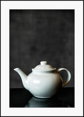 366:2016 Day 38: Tea Anyone? (Kevin Riggins Photography) Tags: stilllife white teapot 7feb16 day38366 366the2016edition 3662016