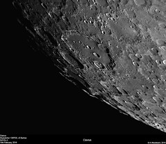 Clavius (alastair.woodward) Tags: sky blackandwhite cloud moon abstract texture monochrome night outdoor budget space derbyshire surface craters mount southern goto 130 lunar derby barlow pds skywatcher clavius heq5