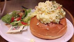 Salmon Scramble Egg Sandwich (Dex) Tags: food bread salad cafe egg salmon malaysia penang bun coffeebean gurneyplaza scrambleegg