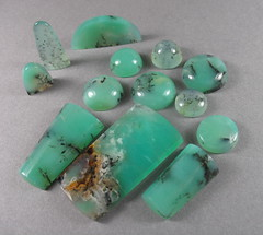 Dendritic Chrysoprase Cabochons (stone temple lapidary) Tags: lapidary dendrites cabochons chrysoprase
