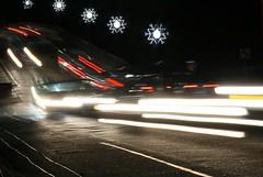 Black Hole Photography (Gabriel FW Koch) Tags: bridge windows red white lines canon eos lights dof bright zoom painted blurred headlights telephoto bent streaks blackhole taillight redlights lense roadway lightstreaks roadwqy