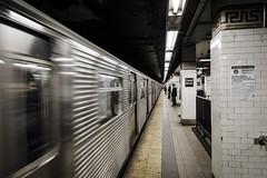 Canal Street (mikejmartelli) Tags: nyc newyorkcity travel urban contrast train dark subway manhattan motionblur trainstation transportation commuting subwaystation newyorksubway