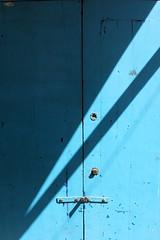essaouira blue shadow (kexi) Tags: africa door blue shadow vertical canon march geometry diagonal morocco maroc simple essaouira 2015 maroko instantfave