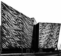 Titanic Musuem Harland and Wolff Shipyard #monochrome (Leshaines123) Tags: vertical design shapes belfast textures titanic facebook wolfe paterns socialmedia harland harlandandwolff twitter iphone6s