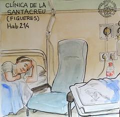Cigea (Fotero) Tags: familia watercolor acuarela dibujo figueres usk clinica cuaderno sketcher urbansketchers cuaderno9